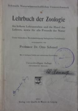 Lehrbuch der Zoologie,1912r