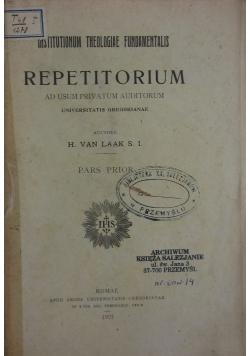 Repetitorium, 1921r.
