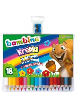 Kredki ołówkowe 18 kolorów bls BAMBINO