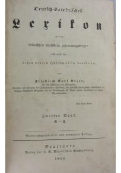 Deutsch-Lateinisches Lexikon, 1844 r.
