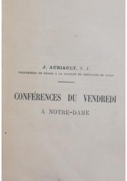 Conferences du vendredi , 1901 r.