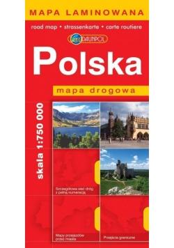 Mapa Drogowa DAUNPOL. Polska laminat