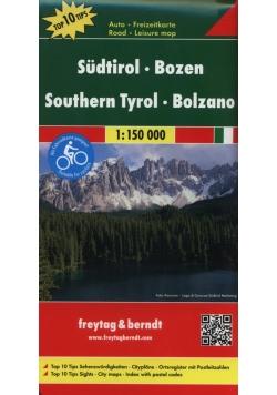 Tyrol Południowy Bolzano Trentino  mapa samochodowa 1:150 000
