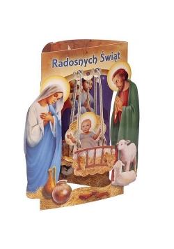 Karnet składany 3D - Radosnych Świąt (wz 6359)