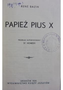 Papież Piłus X, 1935 r.