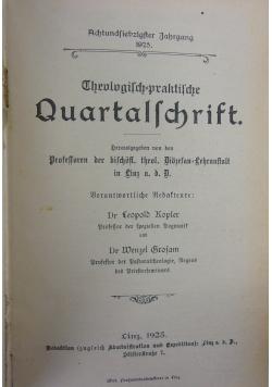 Theologisch praktische Quartalschrift, 1925r.