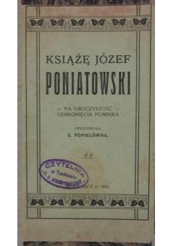 Książę Józef Poniatowski, 1923r.