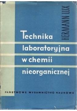 Technika laboratoryjna w chemii nieorganicznej
