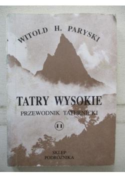 Tatry Wysokie. Przewodnik taternicki, część XI