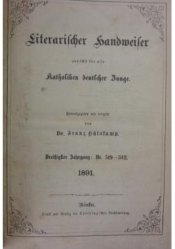 Literarischer handmeiter, katholiken deutscher Bunge, 1891r.