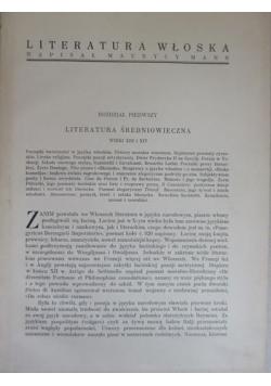 Literatura Włoska, 1933 r.