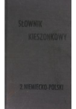 Słownik kieszonkowy Niemiecko-Polski 1910 r.
