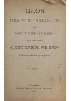 Głos najświętszego dziecka Jezusa, 1895