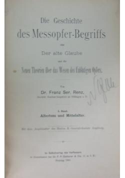 Die Geschichte des Messopfer-Begriffs, 1901 r.
