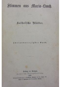 Stimmen aus Maria-Laach 42 band, 1892r.