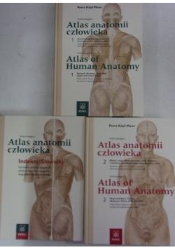 Atlas anatomii człowieka, tom I i II + indeksy