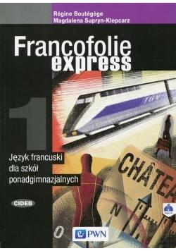 Francofolie express 1 Język francuski Podręcznik z płytą CD
