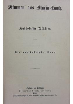 Stimmen aus Maria Laach, 1898r.