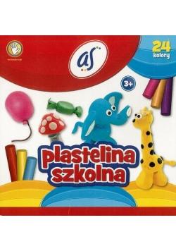 Plastelina szkolna 24 kolory AS
