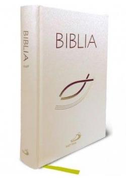 Biblia z rybką biała