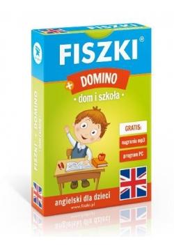 Angielski. Fiszki + Gra Domino - dom i szkoła