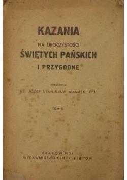 Kazania na uroczystości Świętych Pańskich i przygodne,  1924 r.