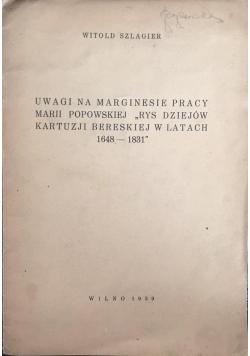Uwagi na marginesie pracy, 1939 r.