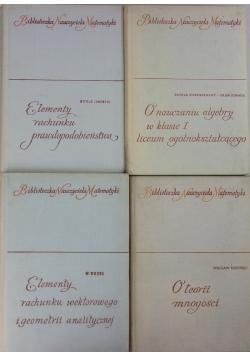 Biblioteczka Nauczyciela Matematyki, zestaw 4 książek