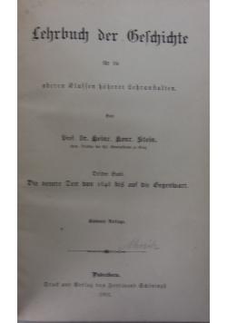 Lehrbuch der Geschichte, 1901 r.