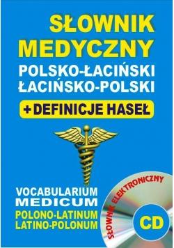 Słownik medyczny pol-łac, łac-pol + definicje + CD