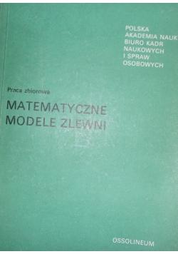 Matematyczne modele zlewni