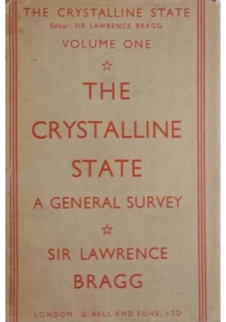 The crystalline state a general survey