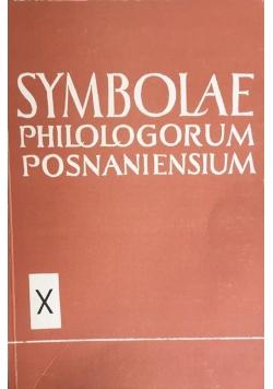 Symbolae philologorum posnaniensium