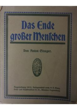 Das Ende grosser Menschen, 1915 r.