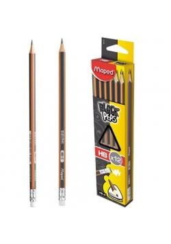 Ołówek z gumką Blackpeps HB (12szt) MAPED