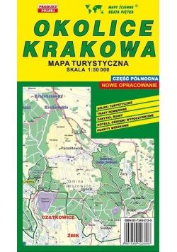Okolice Krakowa Półn. 1: 50 000 mapa turystyczna