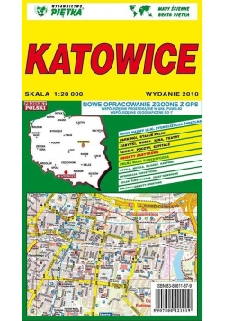 Katowice 1:20 000 plan miasta PIĘTKA