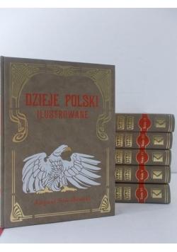 Sokołowski August - Dzieje Polski Ilustrowane Tom I-VI, Reprint  ok 1905 r.