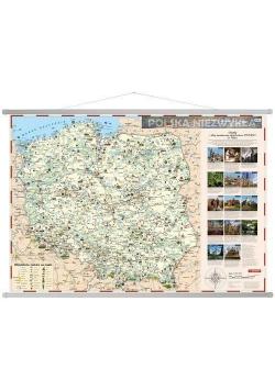 Polska niezwykła. Mapa ścienna dla dzieci