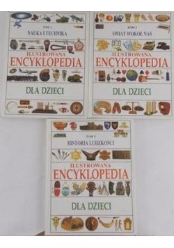 Ilustrowana Encyklopedia dla dzieci TOM 1-3
