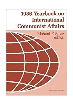 1986 Yearbook on International Communist Affairs Staar