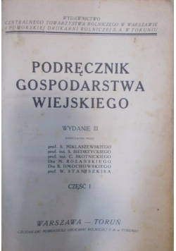 Podręcznik gospodarstwa wiejskiego, część I