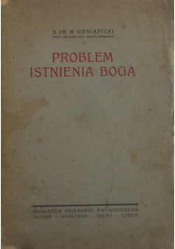 Problem istnienia Boga,1923 r.