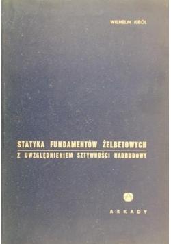 Statyka fundamentów żelbetowych