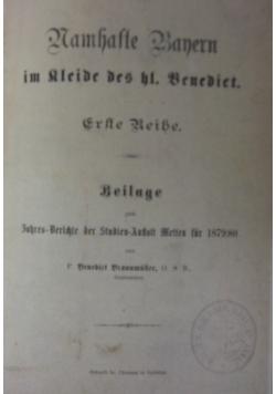 Namhafte Bauern im kleide des hl. Benedikt, 1879 r.