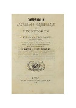 Compendium Apostolicarum Constitutionum, 1875 r.