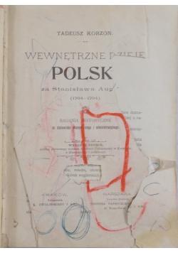 Wewnętrzne dzieje Polski,1897r.