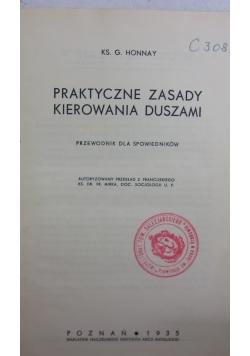 Praktyczne zasady kierowania duszami, 1935 r.