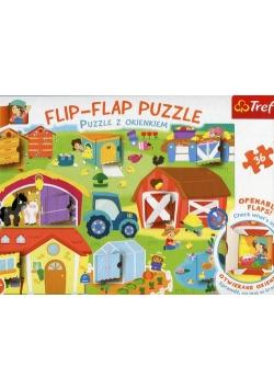 Flip-Flap Puzzle z okienkiem 36 Na farmie