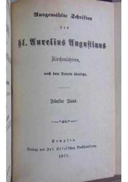 Aurelius Augustinus, 1877 r.